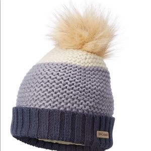 Columbia Unisex Knit Beanie Lined Warm Pom Pom Hat